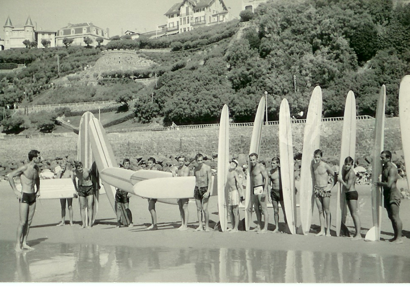 Photo surf groupe 1966 Biarritz
